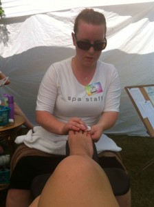 Grail Springs Sarah Doing A Great Job On My Toes